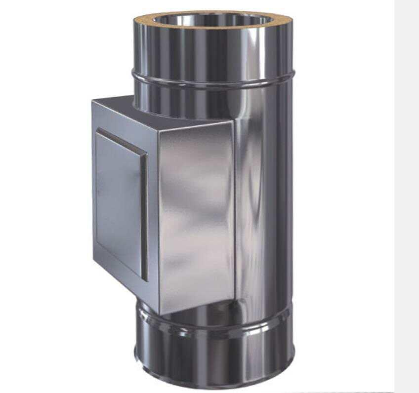 Edelstahlschornstein Reinigung mit Tür doppelwandig DW 80 - DW DW DW 300 0,5mm / 0,6mm 71d5b5