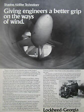 4/1980 PUB LOCKHEED SHAPING AIRLIFTER TECHNOLOGY WIND TUNNEL SOUFFLERIE AD