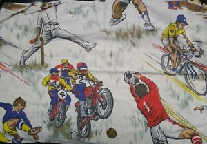 Vintage-Sport-Pillowcase-material-Cricket-Football-Cycling-Motocross-Motorbike