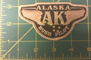 New-Alaska-iron-on-embroidered-patch-BUSH-PILOT-with-wings-and-big-dipper