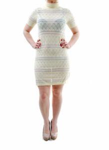 2681cbd4c8c1 For Love   Lemons Women s Stevie Turtleneck Dress Light Yellow RRP ...