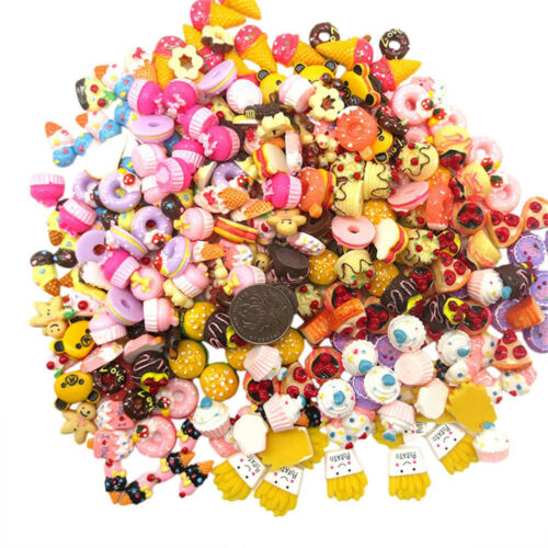 Lots Resin Mixed Simulation Food Cake Candy DIY Cell Phone Case Scrapbook Decor
