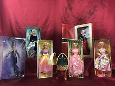 Set Of Seven (7) Barbie Avon Exclusive Dolls MIB NRFB