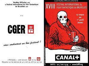 Calendrier Festival.Details Sur Moebius Mini Calendrier Pub 18 Festival Internat Film Fantastique Bruxelles