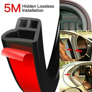 5M-L-Shape-Rubber-Seal-Strip-Car-Door-Trim-Edge-Moulding-Weatherstrip-Universal
