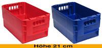 """Postkiste, Postbehälter, stapelbar Höhe 21 cm, Farbe blau  oder rot  """"NEU"""""""
