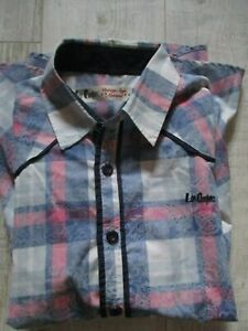 940995b665 LEE COOPER Men s SHORT Sleeved Shirt CHECKED Size LARGE BLUE RED ...