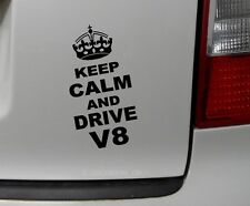 1x keep Calm and drive v8 pegatinas auto adhesivos Shocker auto Fun sticker