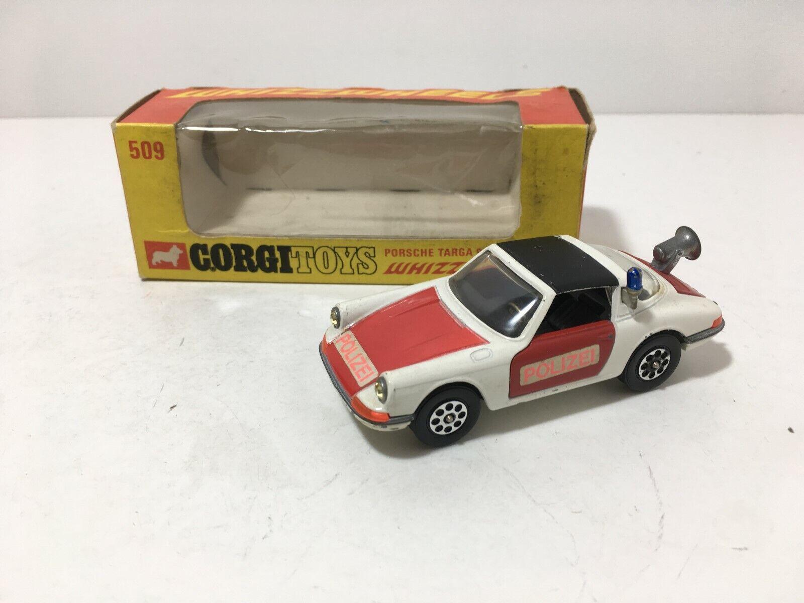 VINTAGE 70's CORGI PORSCHE 911 S TARGA POLIZEI RED WHITE N MIB