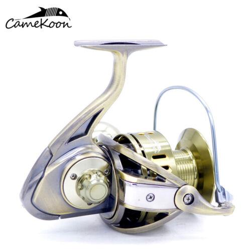 CAMEKOON Saltwater Spinning Reel 12+1 Bearings 35KG Carbon Drag Sea Boat Fishing