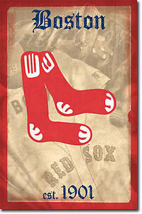 BOSTON-RED-SOX-RETRO-LOGO-POSTER-22x34-SHRINK-WRAPPED-1901-MLB-1371