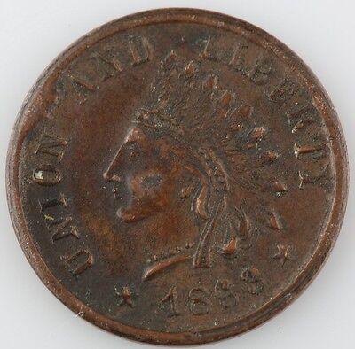 "Other Ancient Coins Logical 1863 Testa Di Indiano Guerra Civile Token Cud Errore "" Union E Libertà Un"
