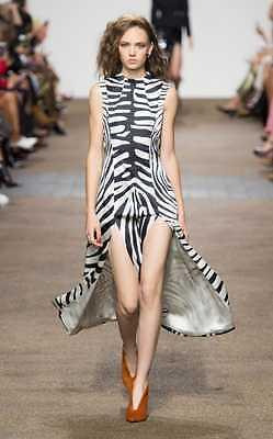 Topshop Unique Resort Silk Irving Zebra Animal Print Dress Midi UK 12 40 US 8