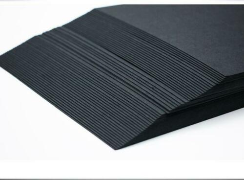 A4 BLACK Card 300gsm 21cm x 29cm Craft Hobby Mounting Sticking 50 to 250 Sheets