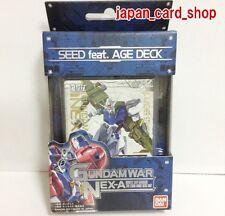 21493 AIR SEED feat. AGE DECK TCG Card Gundam War NEX-A Pre-build Deck
