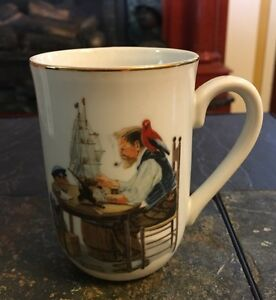 140b5e9c34d Details about Vintage NORMAN ROCKWELL For A Good Boy Coffee Cup Mug Museum  Collection