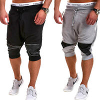 Herren Shorts Jogginghose Trainingshose Kurze Capri Hose Sweat-Bermuda NEU