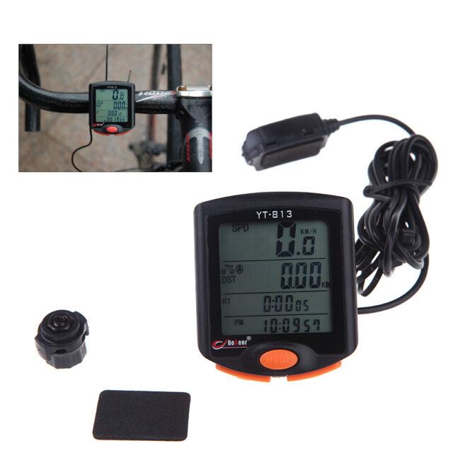 BoGeer YT-813 Imported Sensors LCD Backlit Bicycle Speedometer Odometer C3T1