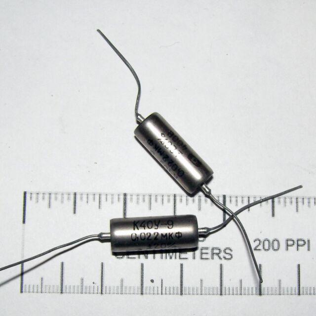 2 x 400V / 0.022uF .022uF 22nf K40Y-9 K40U9 PAPER TONE CAPACITORS. MATCHED PAIR!