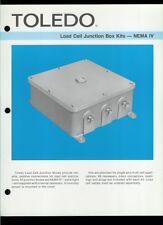 Rare Vintage Orig Toledo Scale Dealer Sheet Page: Load Cell Junction Box Kits