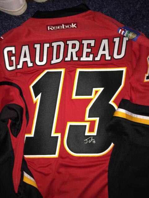 Calgary Flames Johnny Gaudreau Signed Autographed L Jersey COA BNWT