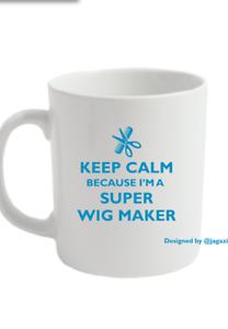 tazas de taza de té Ideas de regalos: fabricante de Taza casquillo de la peluca peluca /& Lace pelo estilista Salon