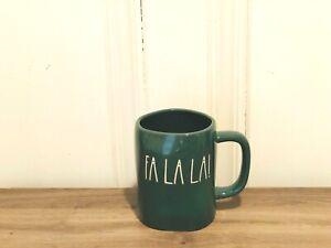 Rae-Dunn-Christmas-By-Magenta-FA-LA-LA-Pine-Green-Farmhouse-Ceramic-Mug-VHTF