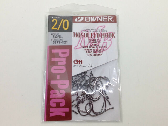 Owners Mosquito Hook 5377 Black Chrome Pro Pack