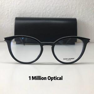 e14e4762858 New Authentic YVES SAINT LAURENT RX Eyeglasses SL238/F 001 52 Black ...