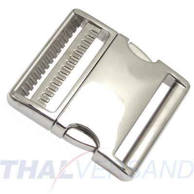 Metall Steckschnalle Steckschließer 20mm Aluminium Alu 4001 Steckschnallen