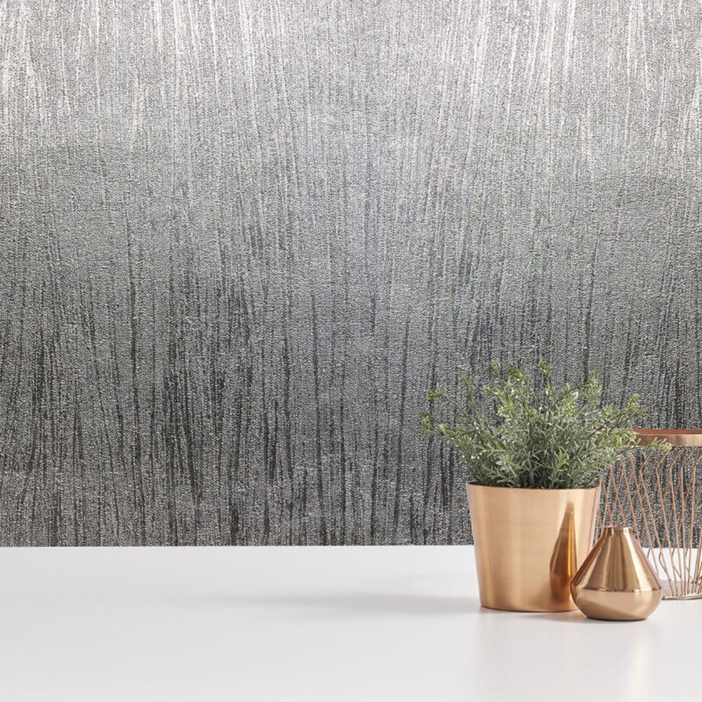 M1393 - Luxus Folien Silber Textur Fine Decor Tapete