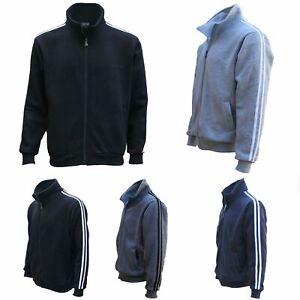 Men's Adult Zip Up Casual Sports Fleece Sweat Shirt Jumper Jacket Hoodie Sweater