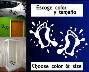 Sticker-Vinilo-Huellas-Splash-Escoge-color-y-tamano-Pegatina-Wall-Decall