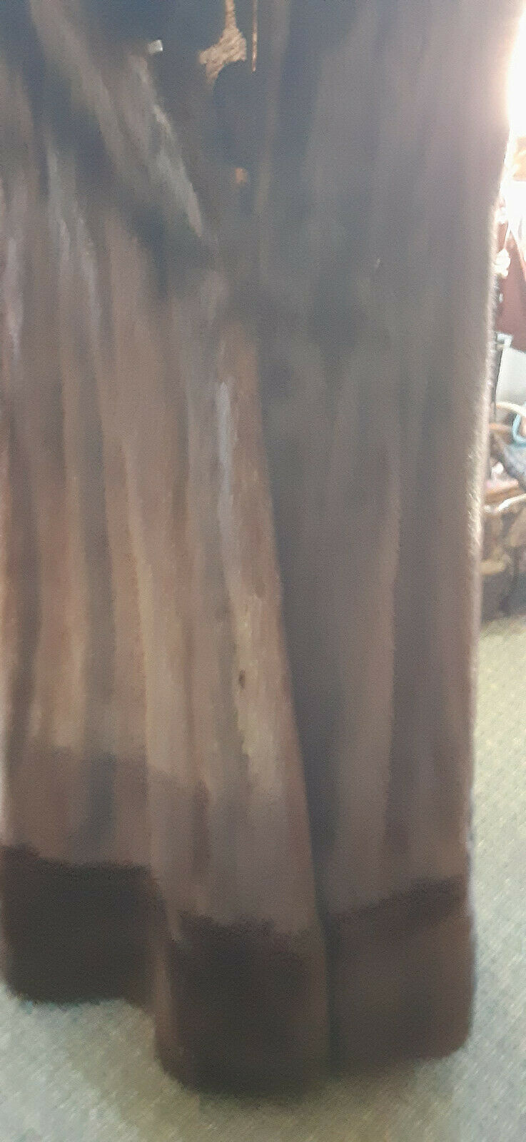 VINTAGE DELUXE FULL LENGHT MAHAGONY BROWN MINK W/… - image 3