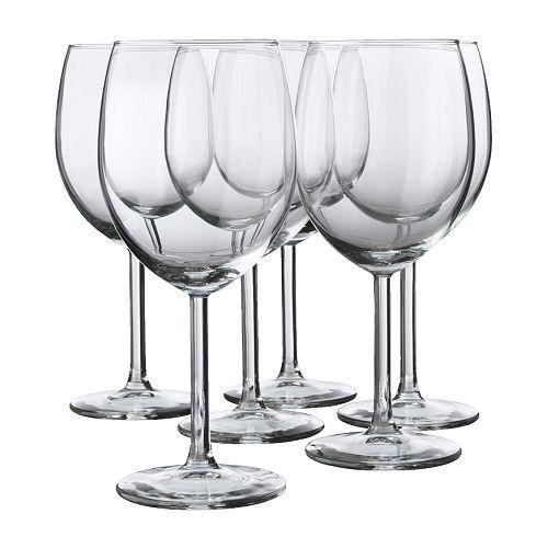 Ikea svalka vin rouge verres en verre transparent; 30cl ; 6 pièces vin