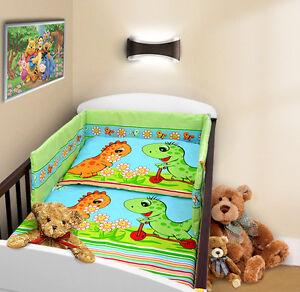BABY-BEDDING-SET-2-3-4-5-6-PC-PILLOWCASE-DUVET-COVER-BUMPER-Fit-Cot-Bed-140x70