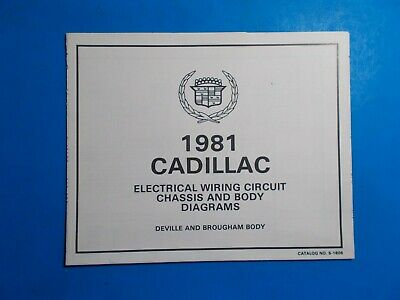 1981 CADILLAC DEVILLE BROUGHAM ELECTRICAL WIRING CIRCUIT ...