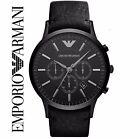 Emporio Armani AR2461 Uomo Cinturino Nero Design Classico Orologio Cronografo