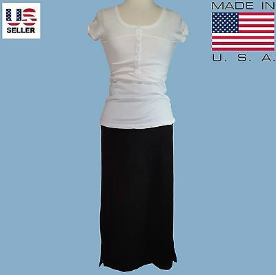On Sale NEW Womens Long Fitted Maxi Skirt Black Size XS Small S USA