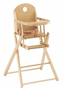 Image Is Loading P 039 Titom Highchair Virginia Natural Varnish Made