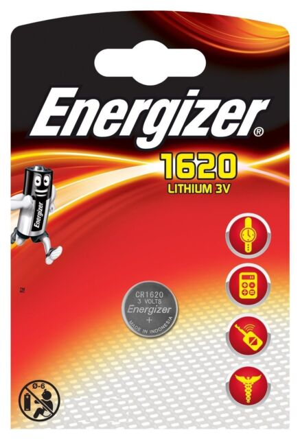 Energizer 1 PILE  1620 CR1620 3V Lithium DL1620 KCR1620, BR1620