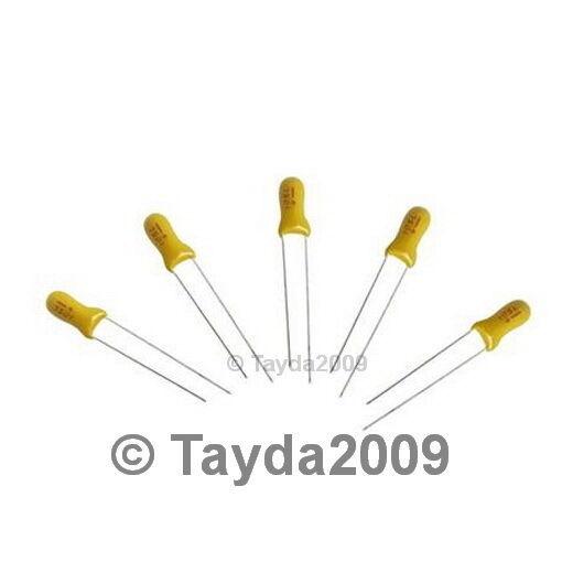 10 x 3.3uF 25V Radial Tantalum Capacitor - FREE SHIPPING