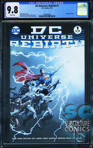 Dc Universe Rebirth 1 First Print Cgc 9 8 Sold Out Dc Comics Relaunch Ebay