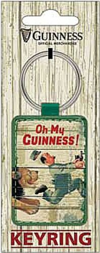 sg Guinness Lion /& Zookeeper  PU Leather keyring