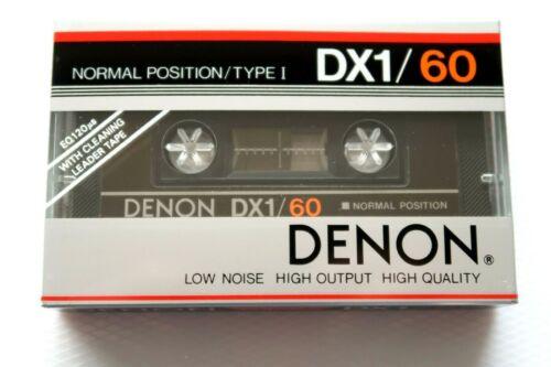 DENON DX1//60 NORMAL POSITION TYPE I BLANK AUDIO CASSETTE JAPAN 1983