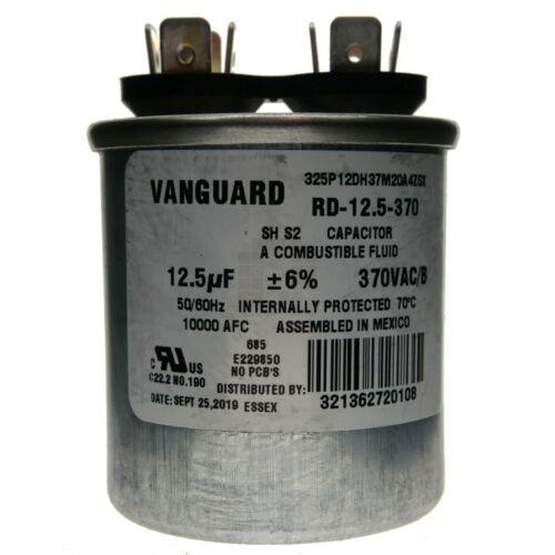 370VAC 50//60Hz 12.5uF Vanguard RD-12.5-370 Electric Motor Run Capacitor