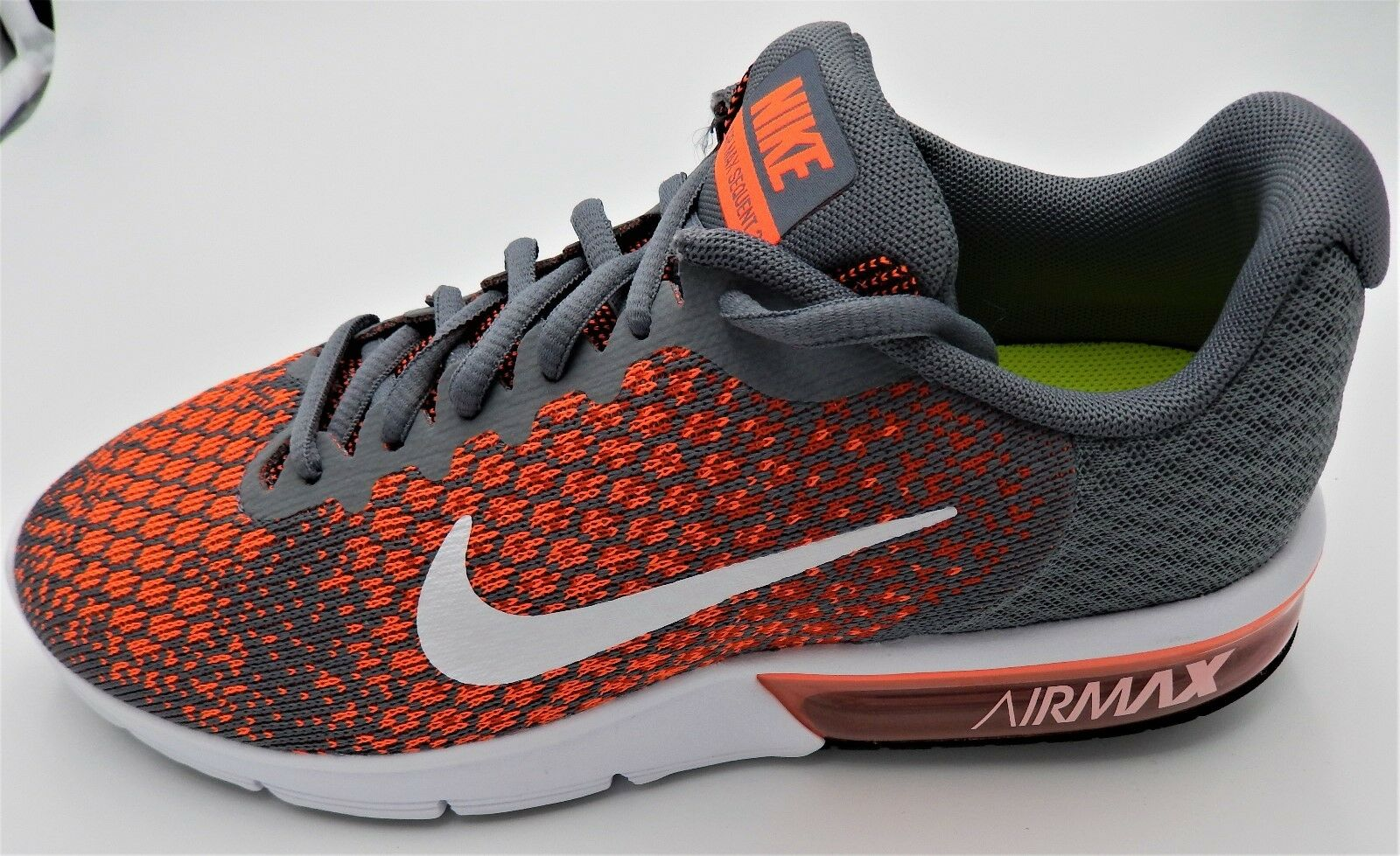 NIKE  Herren AIR MAX SEQUENT 2 MULTIPLE SIZES SIZES SIZES MAX ORANGE Weiß 852461-008 AIRMAX fe5064