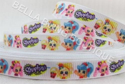 """1 2 3 Metro Metros Shopkins Chicas 9 mm 3//8/"""" cinta del grosgrain"""