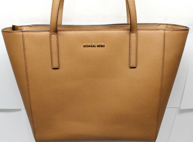 b97251eb2 NWT MICHAEL KORS RIVINGTON LARGE TOTE LEATHER 38S8GR6T3L BROWN MSRP $298