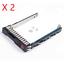 2X-New-HP-G8-G9-Gen9-651687-001-SFF-2-5-034-SAS-SATA-HDD-Tray-Caddy-653955-DL380-G9 thumbnail 1